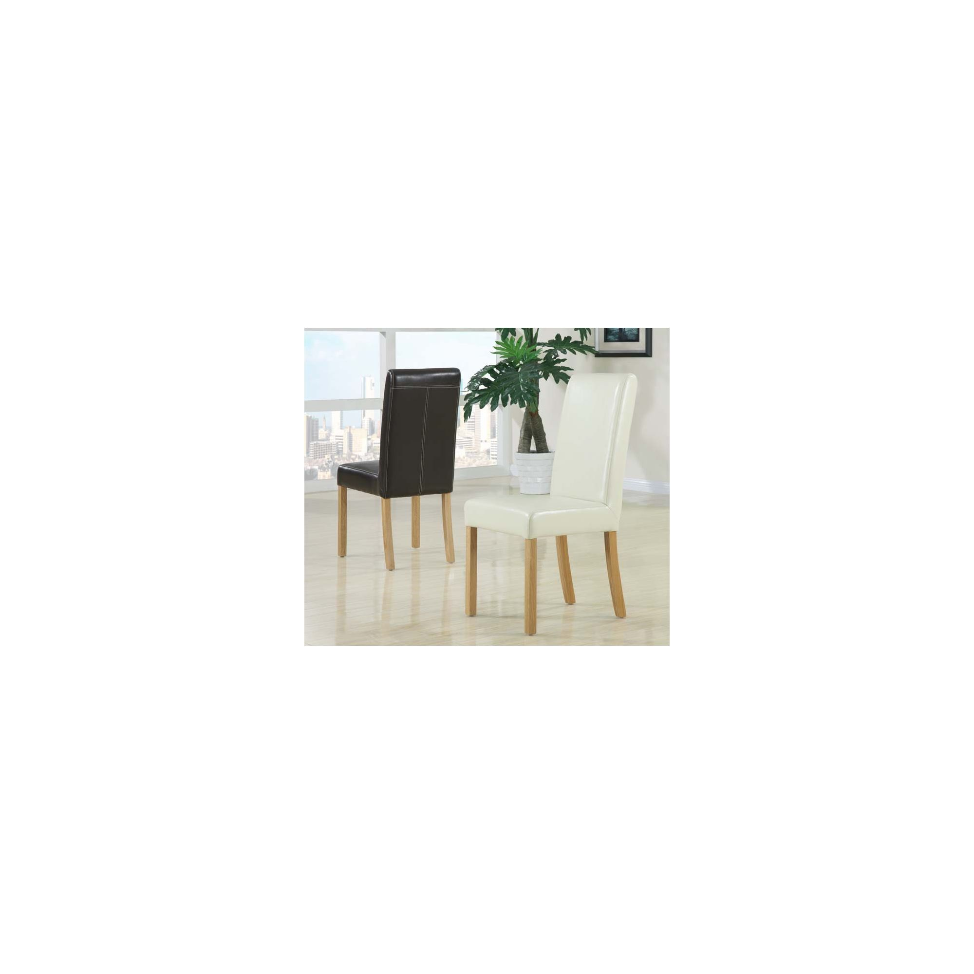 Hawkshead Barcelona Leather Dining Chair with Dark Brown Seat