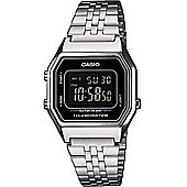Casio Unisex Stainless Steel Alarm, Day & Date, LED Light Watch LA680WEA-1BEF