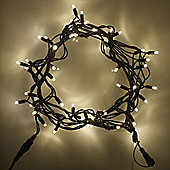 150 Warm White LED Connectable 15m Outdoor String Lights