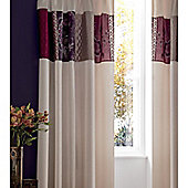 Catherine Lansfield Home Signature Border Patchwork Curtains 168cm wide x 183cm drop (66x72 inches)