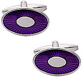 Purple Fan Enamel Cufflinks - By Aston Brown