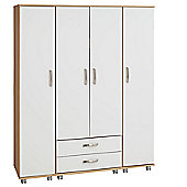 Ideal Furniture Regal 4 Door Wardrobe