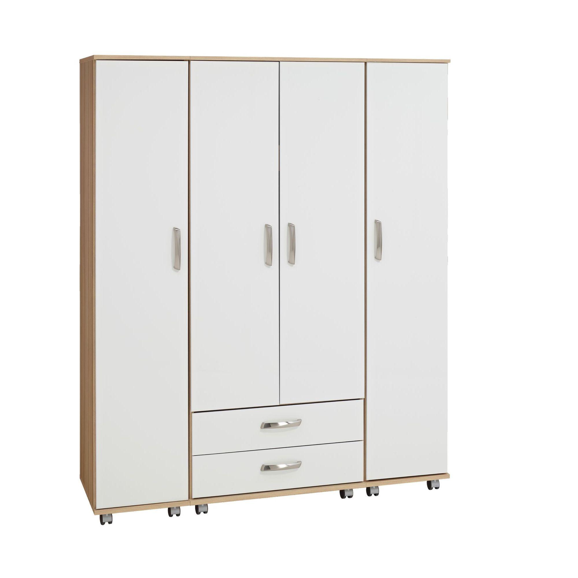 Ideal Furniture Regal 4 Door Wardrobe in white at Tesco Direct