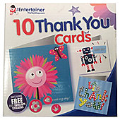 The Entertainer 10 Thank You Cards