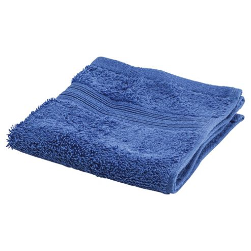 Tesco Face Cloth Electric Blue