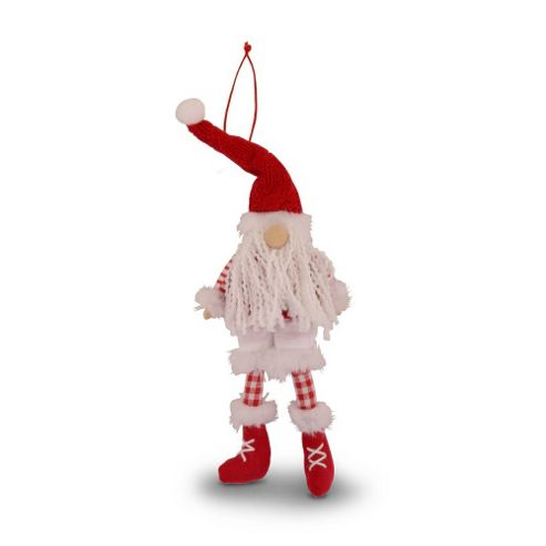 Knitted Red Hanging Modern Christmas Tree Doll Decoration