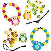 Owl Bead Bracelet Craft Kits (Pack of 4)