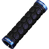 Acor Skull Design Locking Grips: Blue.