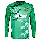 2013-14 Man Utd Home Nike Goalkeeper Shirt (Green) - Green