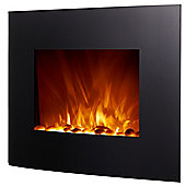 "Homegear 26"" Wall Mounted 2-In-1 Electric Fireplace/Heater W/ Remote Control"