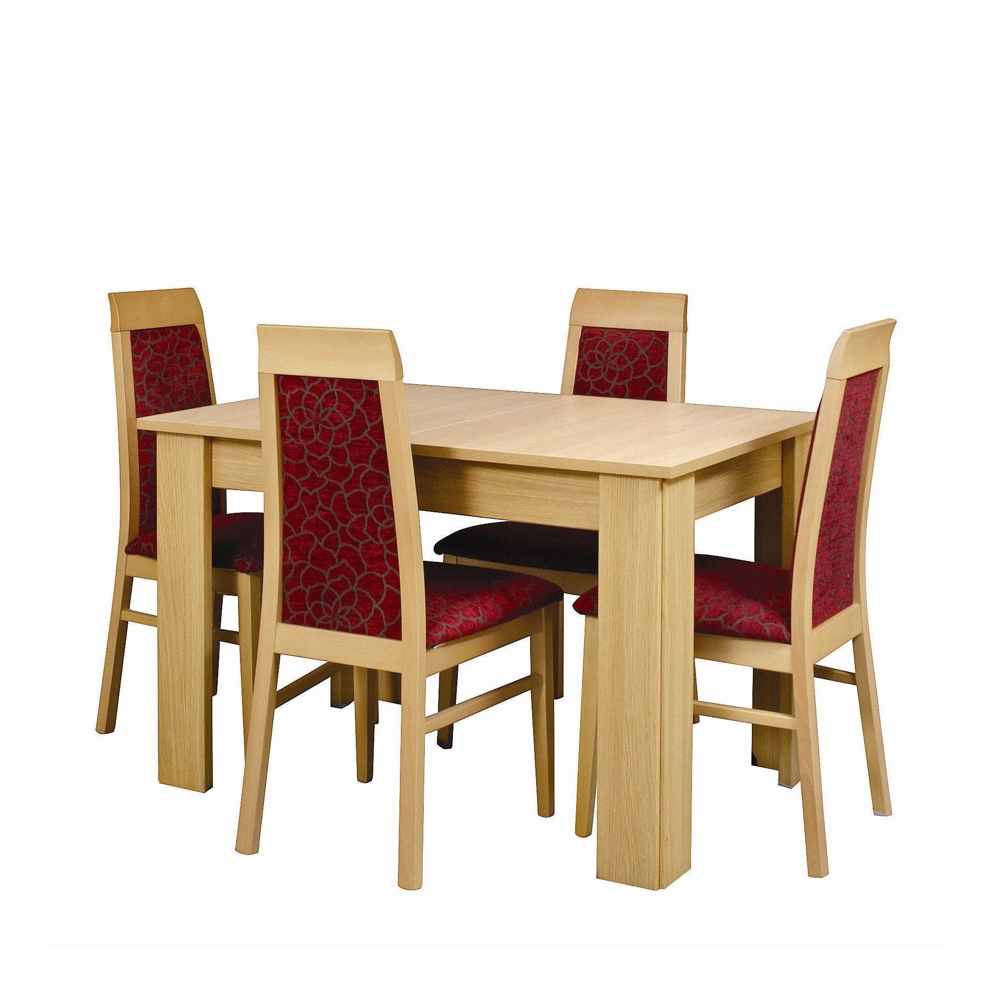 Caxton Huxley Dining Table Set with 6 Upholstered Dining Chair in Light Oak at Tesco Direct