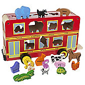 Bigjigs Toys BJ650 Red Bus Sorter