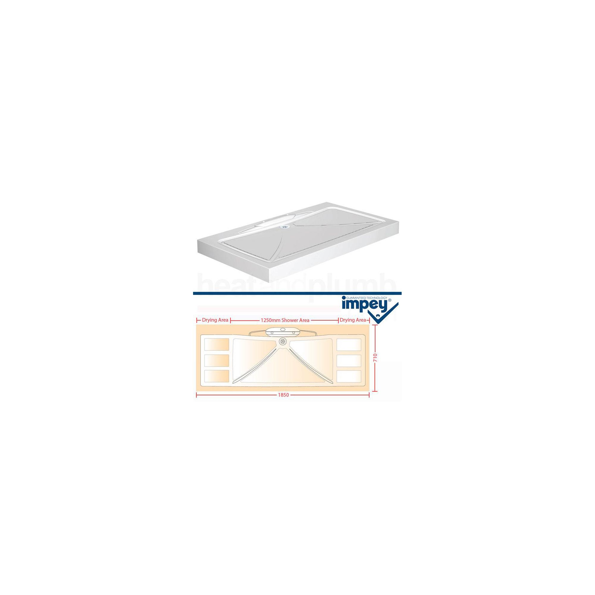 Impey Mendip Shower Tray 1850mm x 710mm at Tesco Direct
