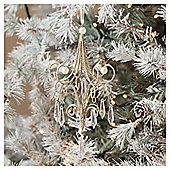 Gold Chandelier Christmas Tree Decoration