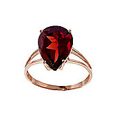 QP Jewellers 5.0ct Garnet Pear Drop Ring in 14K Rose Gold