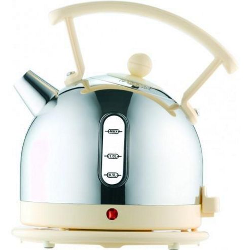 Dualit 72702 1.7 Litre Dome Kettle - Chrome with Cream Trim