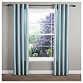 Tesco Faux Silk Lined Eyelet Curtain 90x72'' - Eau De Nil