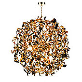 Eye-catching Original Gold 12 Light Pendant Fitting