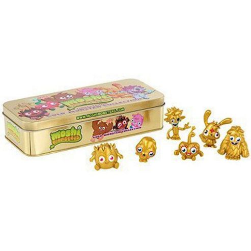 Limited Addition Gold Monster Collection Tin Moshi Monsters Vivid Imaginations
