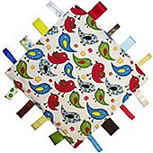 Dotty Fish Baby Tag Blanket - Blue Bird