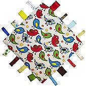Dotty Fish Baby Tag Blanket - Blue Bird