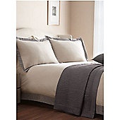 Casa Couture Oxford Flannel Super King Duvet Cover In Beige