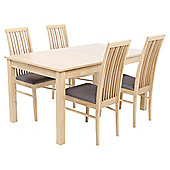 Brooklyn 4-6 Seat Extending Dining Table Set with Chairs, Grey