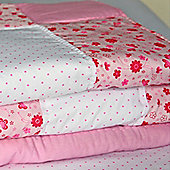 Pink Butterfly Cotton Children's Patchwork Quilt