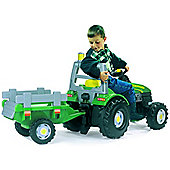 Large Green TGM Stronger Childrens Ride On Pedal Tractor