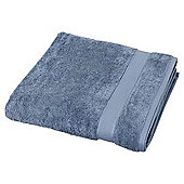 Egyptian Cotton Chambray Blue Bath Sheet