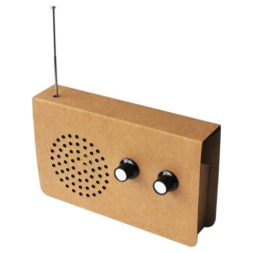 Suck UK Cardboard Radio and iPod Speaker