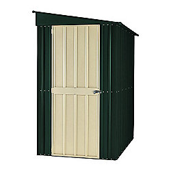 Store More Heritage Green Lotus Lean-To Metal Shed, 4x6ft