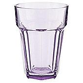 Tesco Single Soda Glass, Pastel Lilac