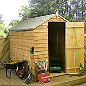 Mercia Garden Products Budget Overlap Apex Windowless Storage Shed