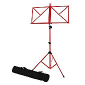 Windsor Folding Music Stand - Red