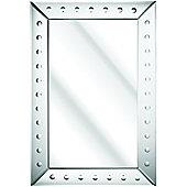 D & J Simons Art Deco Strips and Dots Mirror - 122cm H x 91.5cm W x 1.5cm D