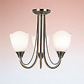 Endon Lighting Flush in Antique Brass Plate