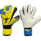 Precision Gk Matrix Box Cut Odd Tech Junior Goalkeeper Gloves - Yellow