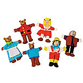 Bigjigs Toys BJ706 Goldilocks Finger Puppets