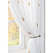 Morocco Voile Curtain Panel - Brown