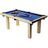 The Amalfi Pool Dining Table in Wood Finish