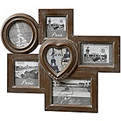Hill Interiors 6 Way Multi Photo Frame