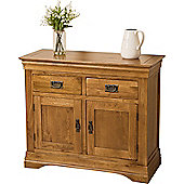French Chateau Rustic Solid Oak Small Sideboard