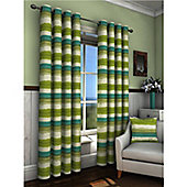 Truro Eyelet Curtains 117 x 137cm - Green
