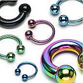 Pack Of Four Titanium Anodised 2.4mm Circular Body Piercing Barbells