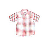Men's Torquay Short Sleeve Cotton Shirt - Red
