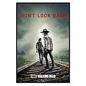 Gloss Black Framed The Walking Dead Don't Look Back Poster