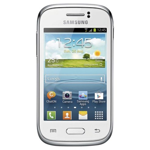 Tesco Mobile Samsung Galaxy Young White