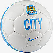 Nike SUPPORTER'S BALL-MAN CITY - White/Field Blue - White
