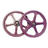 "Skyway Tuff II Purple 20"" BMX Wheelset"